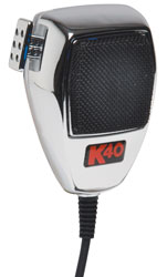 K40 Chrome  - Noise Canceling Cb Mic *DISCONTINUED