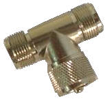 Cb Radio Coax - T connector  PL259/ two SO239